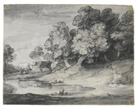 wooded landscape with cattle by thomas gainsborough