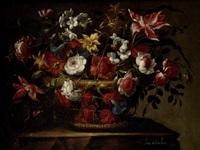 cesto con flores by juan de arellano