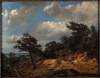paesaggio boscoso con figure by théodore fourmois