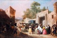 la llegada del conde del aguila a su finca de la aldehuela by manuel cabral aguado bejarano