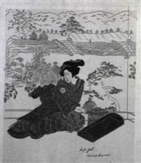 konvolut: japanerinnen in verschiedenen interieurs, u.a. by margarethe strasser