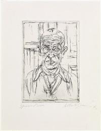 portrait de michel leiris i (from vivantes cendres, innommées) by alberto giacometti