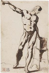 studio di nudo maschile by vincenzo camuccini