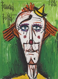 clown au petit chapeau jaune by bernard buffet
