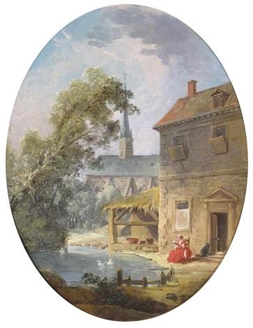 a village in france by hubert robert