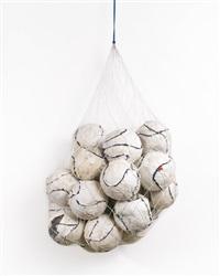 soccer ball bag 1 by mark bradford