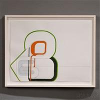 untitled (glass knot) by lynda benglis