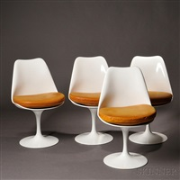 four eero saarinen for knoll tulip chairs by eero saarinen