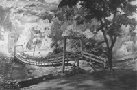 old swinging bridge by howard daniel becker