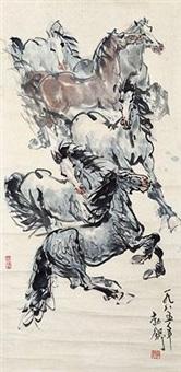 骏马图 by liu boshu