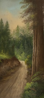 road along the redwoods by carl sammons
