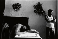 ernestine & danny maffia * boy with star. together, 2 photographs by duane michals