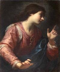angelo annunciante (+ vergine annunciata; pair) by simone pignoni