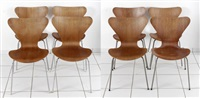 stapelstühle (model 3107) (set of 8) by arne jacobsen