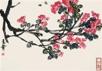 花卉蜜蜂 by qi bingsheng