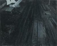 timeless railway station by adrian ghenie
