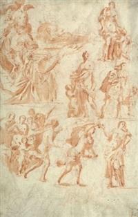 salomé et la tête de jean-baptiste (study) by francesco allegrini