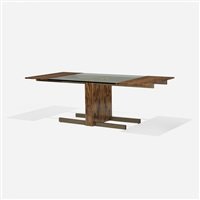 glass top extension dining table, model 6705 by vladimir kagan