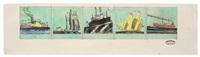 5 bilder verschiedener schiffe by lyonel feininger