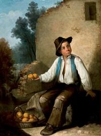 niño vendiendo naranjas by antonio cabral bejarano