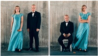 wedding portraits (diptych) by elina brotherus