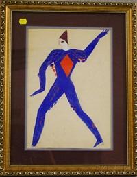 costume design (blue harlequin) by alexis paul arapov