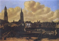 the ruins of delft after the explosion of the powdermill by daniel vosmaer