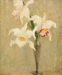 white & pink orchids by anna s. fisher