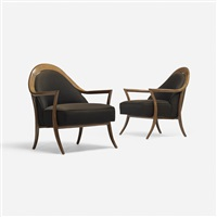 lounge chairs (pair) by t.h. robsjohn-gibbings