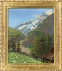spring time in the alps by w. savage cooper