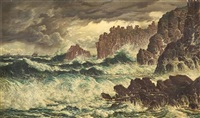 storm at land's end by peter caledon cameron