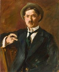 porträt eines jungen mannes (robert breyer) by max slevogt