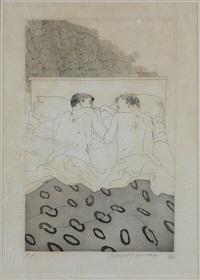 two boys aged 23 or 24 by david hockney