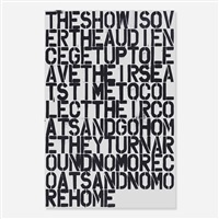 untitled (poster) by christopher wool and felix gonzales-torres