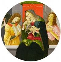 madonna mit dem kind, johannes dem täufer und einem engel by sandro botticelli