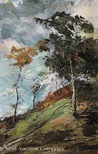 autumn landscape by magnavacca ubaldo