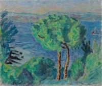 le double pin or les deux pins (environs de cannes) by pierre bonnard