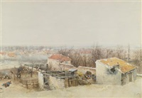 champigny (study for the panorama of the battle of champigny) by alphonse marie de neuville