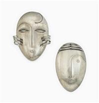 masks (pair) by franz hagenauer