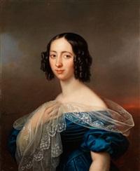 portrait einer vornehmen dame by karl gottlieb schweikart