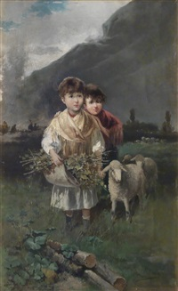 escena pastoril by manuel picolo y lopez