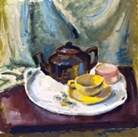 asztali csendélet kannával és csészével by sándor bortnyik
