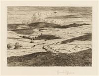 landschaft mit wolkenschatten / gasterntal ii / seifriedsberg (3 works, various sizes) by hans thoma