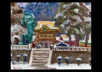 yomyo gate in the snow by nobumichi ide