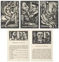 passion (l'homme a la myrrhe, princeps ivventutis, chemineau et paysans, sainte pute, princeps ivventutis); cirque de l'etoile filante (13 works) by georges rouault