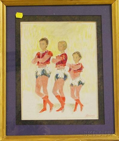 three boy acrobats by alexis paul arapov