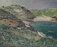 l'orage le soir, l'anse de port-goulphar, belle-île-en-mer by maxime maufra