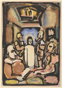 le christ et mammon (from passion) by georges rouault