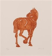standing horse by elisabeth frink