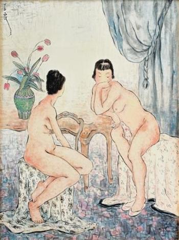 deux femmes by pan yuliang